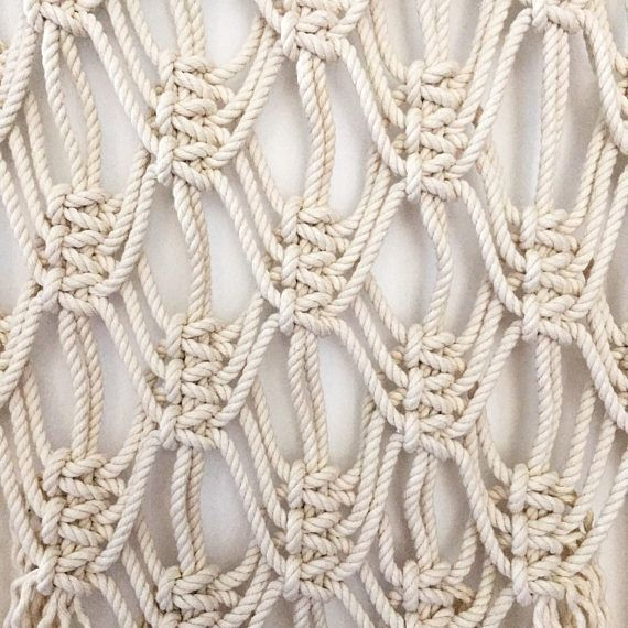 CHRISTMAS ORDERS NOW CLOSED!!! This beautiful Macrame Wall Hanging is made from 100% cotton cord hung from a unique foraged branch. The knotted design measures approximately 45cm wide by 35cm high. This is the perfect addition to your home, office or studio for a chic, boho look