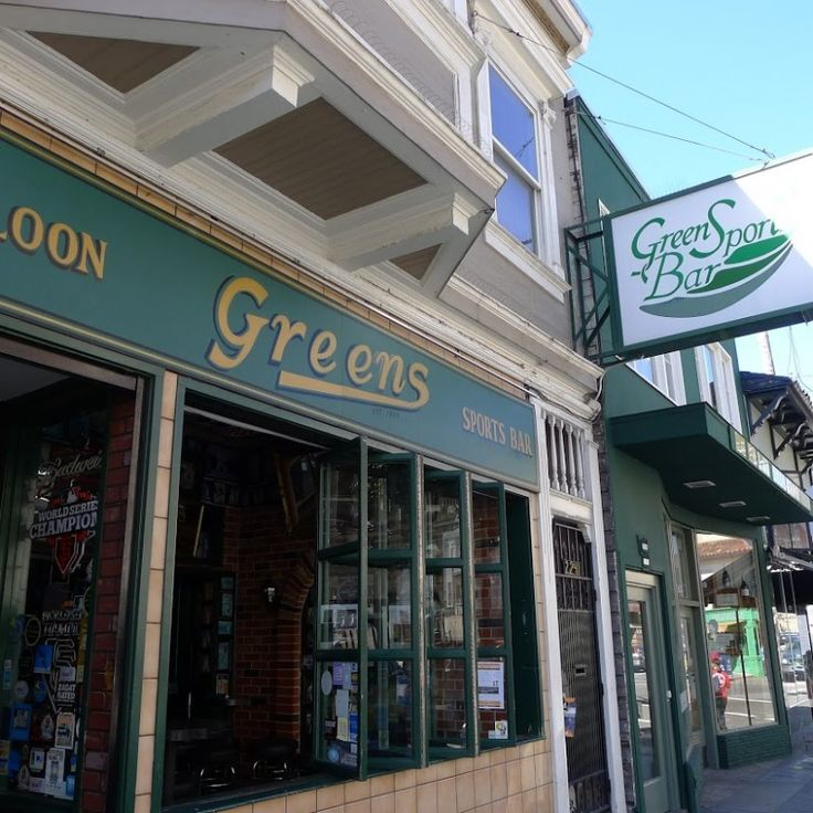 Greens Sports Bar: Classic sports / Irish style bar with lots of TV's if you're in a social mood to catch anything really -- from golf to college football. There's much to like about Green's including the pool table, video game machines and Russian Hill / Cow Hollow patrons.