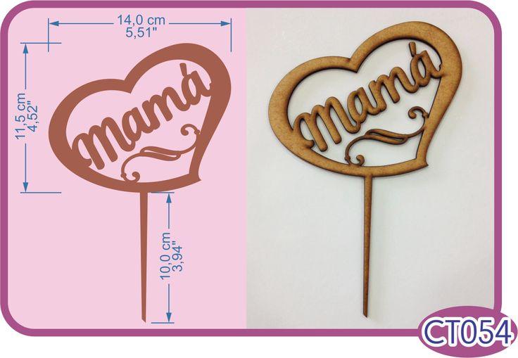 Mamá Cake Topper. -Pedidos/InquirIes to: crearcjs@gmail.com