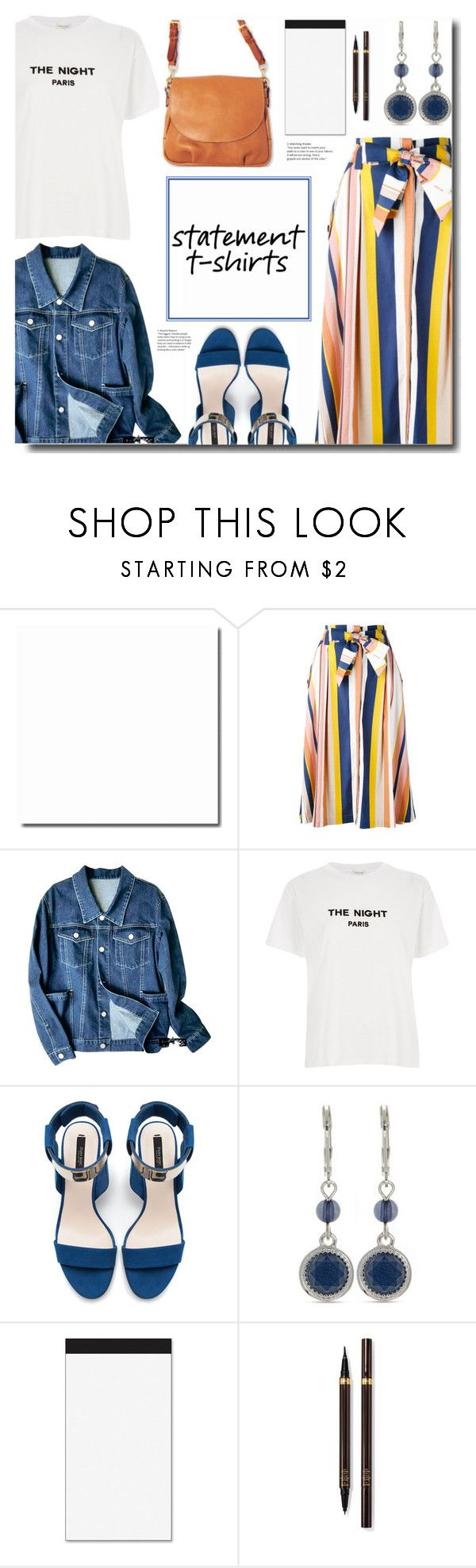 """Say It Loud: Slogan T-Shirts"" by kts-desilva ❤ liked on Polyvore featuring Tanya Taylor, River Island, Diane Von Furstenberg, Zara, Nine West, AT-A-GLANCE, Tom Ford, slogantshirts and collegetime"