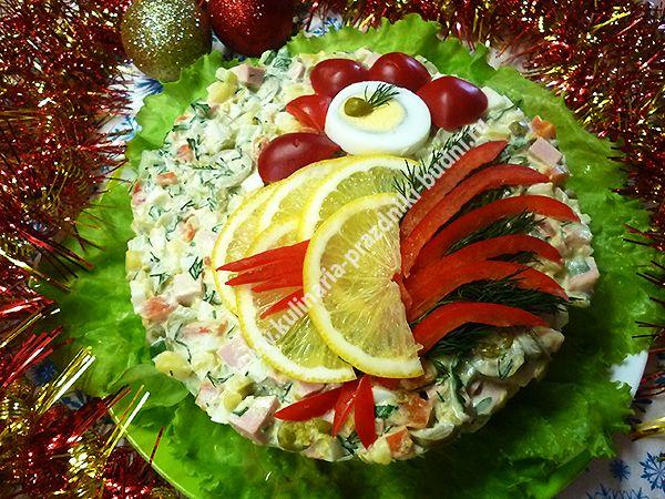 слоеный салат с красной рыбой фото рецепт