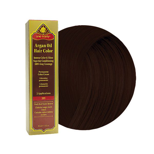 One And Only Argan Oil Dark Red Violet  Dark Brown Hairs