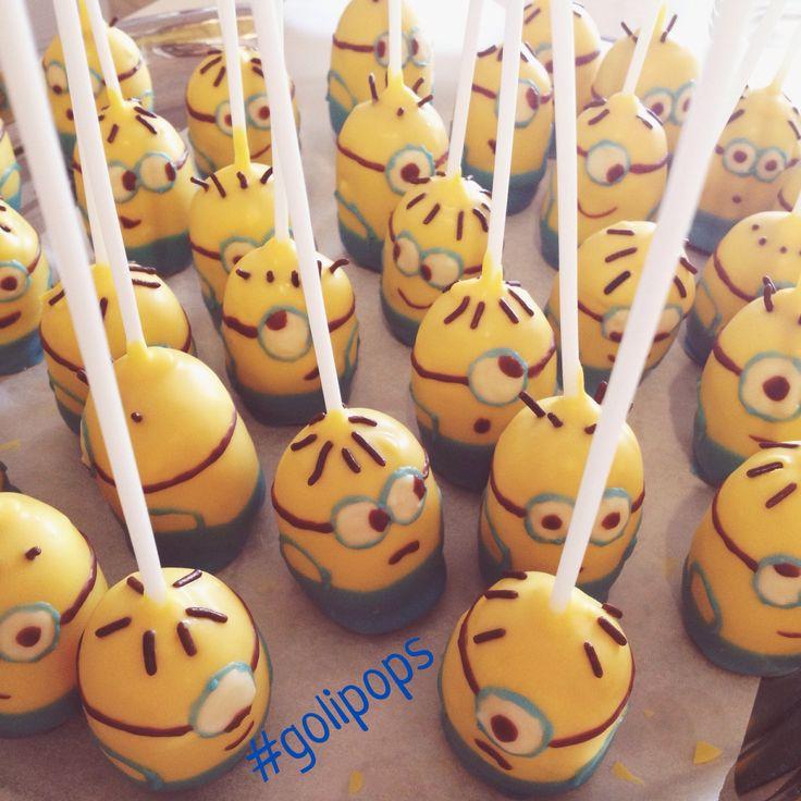 Minions Cakepops #golipops party food  www.fb.com/cocinaGoligo