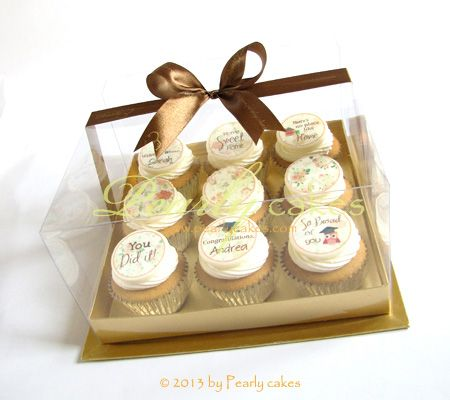 Greeting Cupcakes in a box