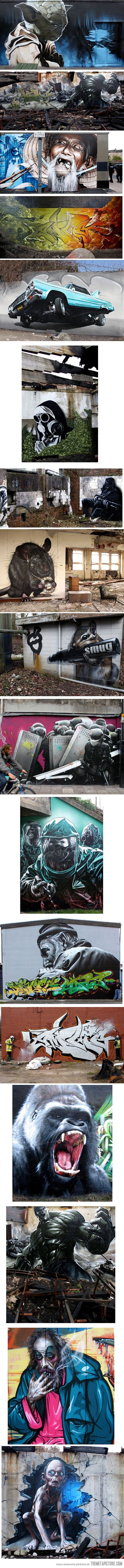 Amazing graffiti artwork by 'SmugOne' #streetart #graffiti #art https://www.etsy.com/shop/urbanNYCdesigns?ref=hdr_shop_menu