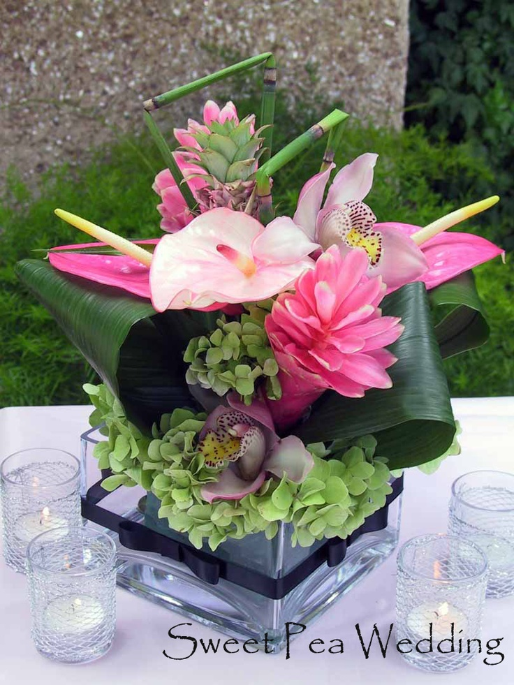 Sweet Pea Wedding Services & Floral: Upgraded LOW Centerpieces