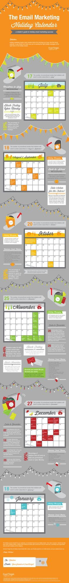 Holidays In August: A Holiday Email Marketing Schedule #infographic