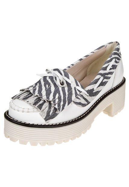 Me encanta! Miralo! Zapato Blanco Claris Shoes Combinado Cebra  de Claris Shoes en Dafiti