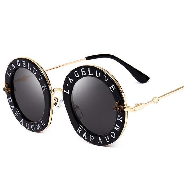 18778fe7c1eb Gucci Inspired Vintage Sun Glasses With Words Luxury Travel Shades ...