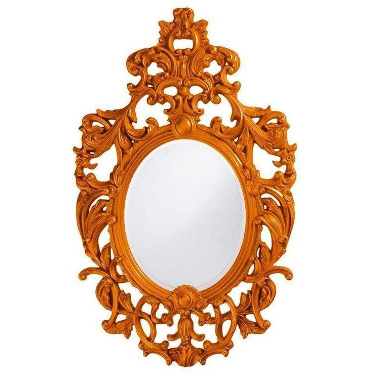 """Howard Elliott Dorsiere Orange Mirror 31"""" x 51"""" x 1"""""""