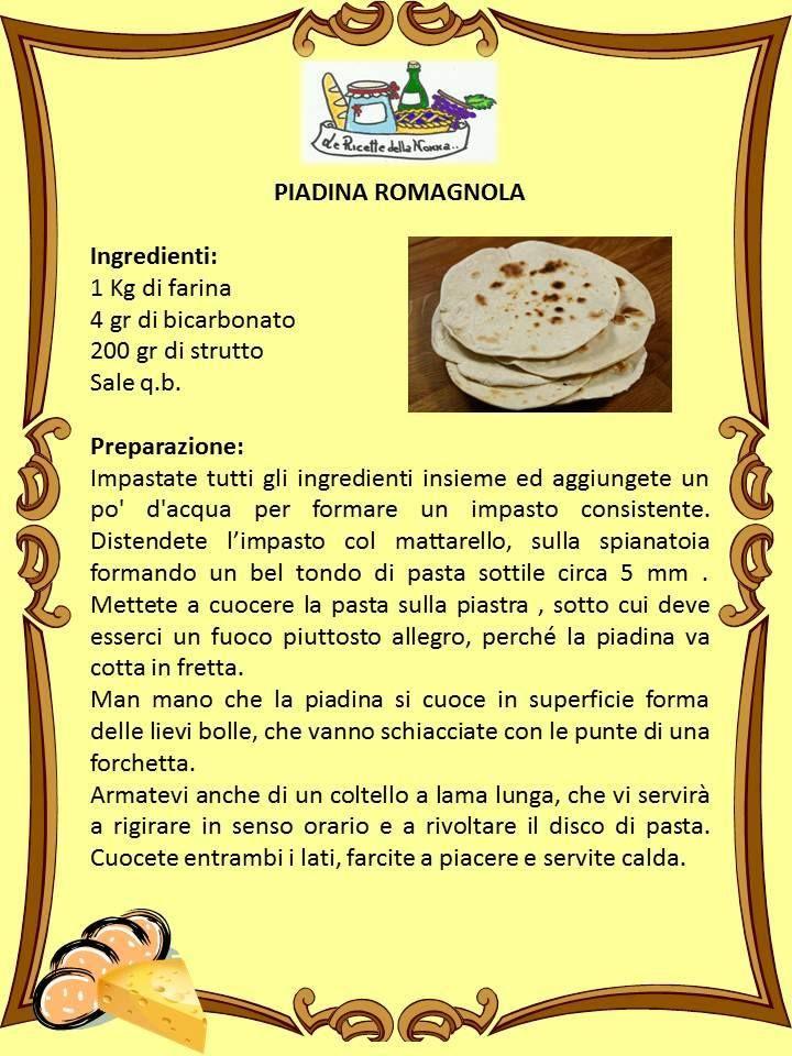 ricetta....piadina romagnola