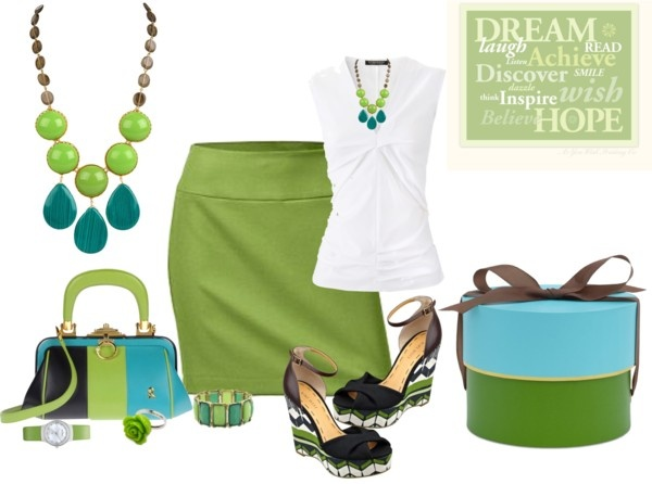 """""""shades of green and blue"""" by citas ❤ liked on Polyvore"""