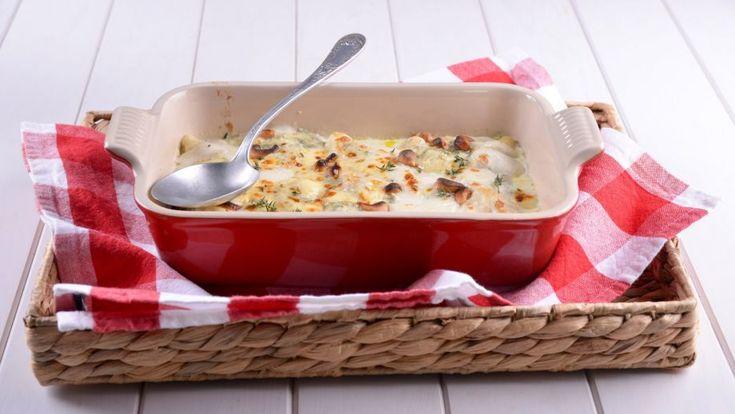 Canelones de ternera, cebolla caramelizada y queso azul - Receta - Canal Cocina