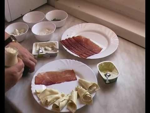Sonkás-sajtos hidegtál készítése