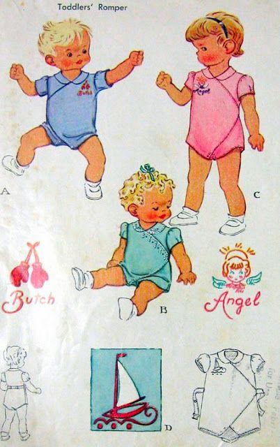 Mommy's Apron Strings: Vintage Pattern Love: Romper