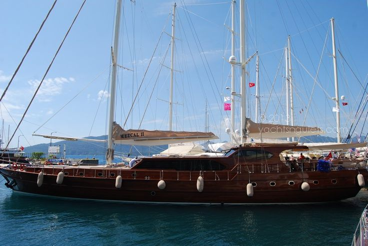 Mezcal II gulet at the Yacht Charter Show in Marmaris