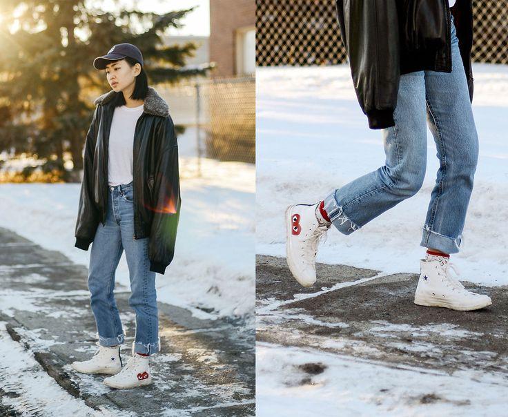 Alyssa Lau - Happy Socks Sprinkle, Converse X Cdg Play Sneakers - Take It Easy