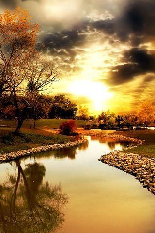 Beautiful country scene in autumn.