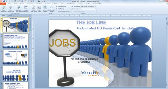 Animated PowerPoint Templates for Employee Recognition and Job Opportunities | PowerPoint Presentation