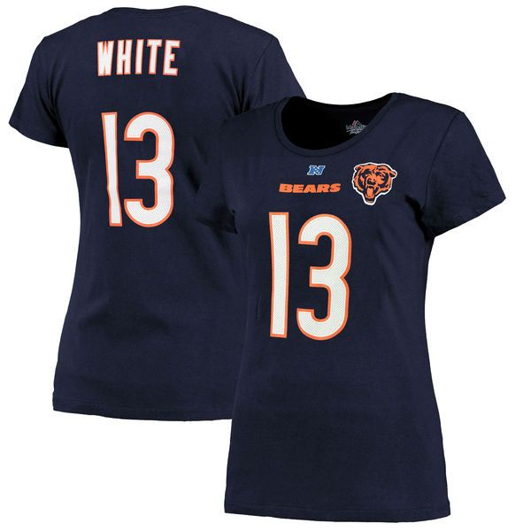 Kevin White Chicago Bears Majestic Women's 2015 NFL Draft Fair Catch Name & Number T-Shirt - Navy - $29.99