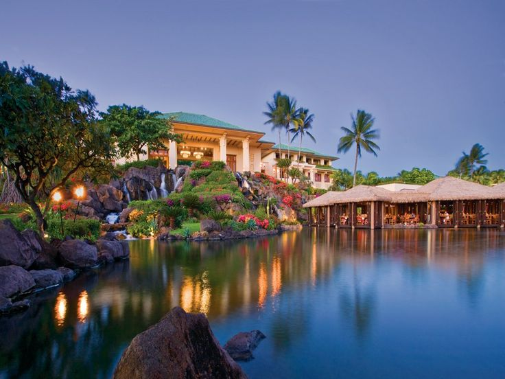 The Grand Hyatt Hotel in Kauai, Hawaii....I want to go back.