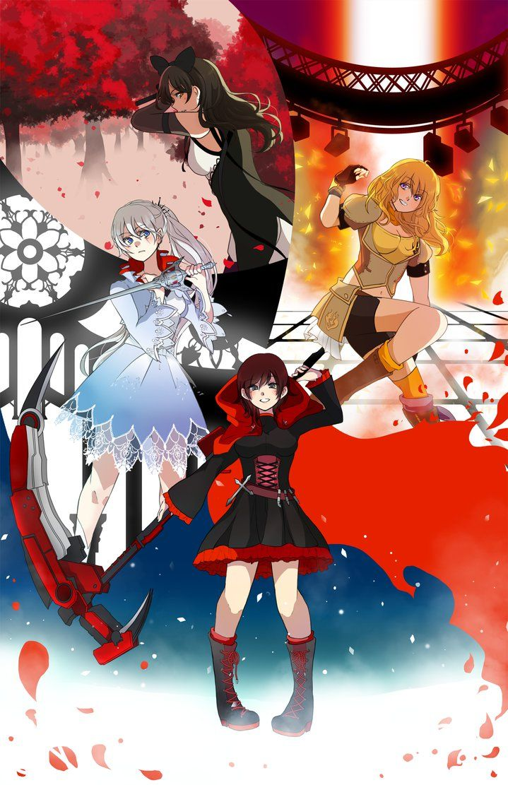 (i suppose fullview if you're so willing?) i seriously don't know how long it's been since i've submitted fanart (or even to my main gallery) but hey these are some girls from rwby the girls from r...