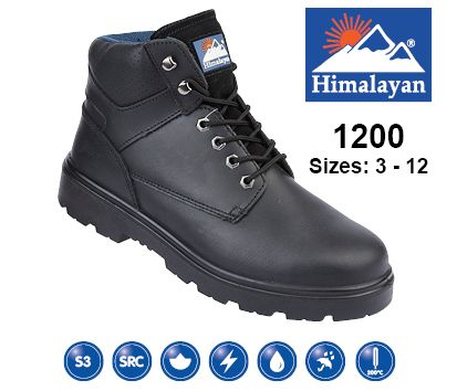 Black Leather Safety Boot (1200)