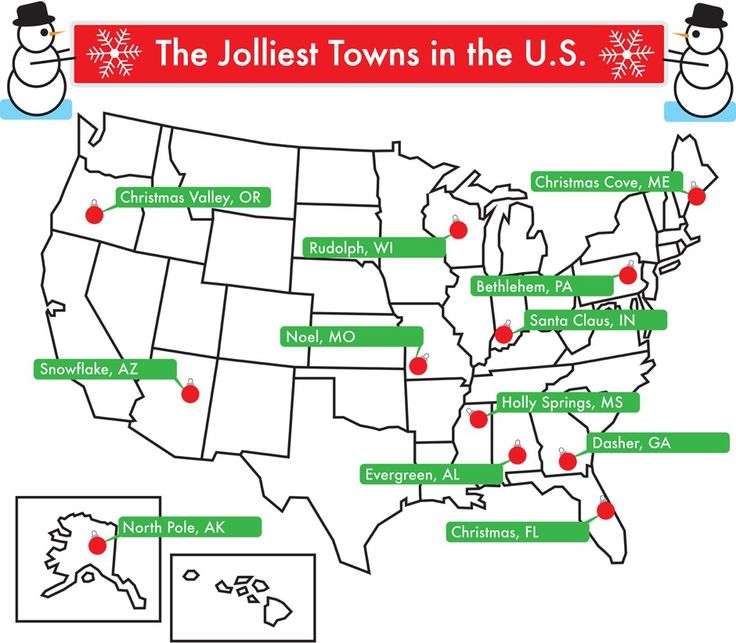 From Snowflake, Arizona, to Santa Claus, Indiana, these are places where it's Christmas 365 days a year.