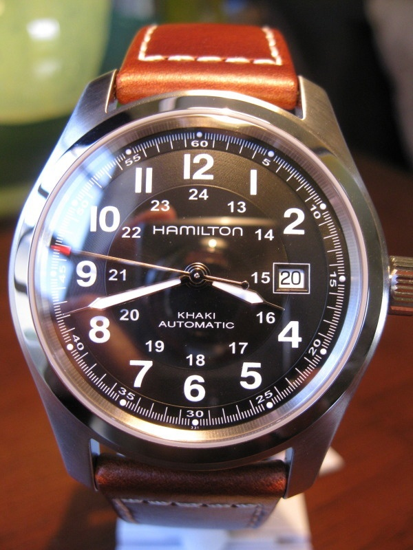 Hamilton Khaki Field Black Automatic Men's Military Date Watch