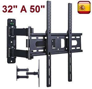 a soporte de pared tv lcd led plasma monitor para 32 a 50 giratorio e inclinable