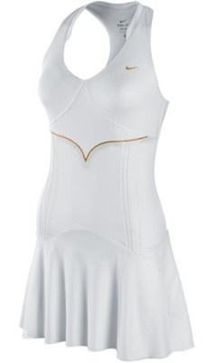 "Nike Tennis Dress- This is the perfect Little White Dress, it's actually got a thicker liner attached that does a great job of hiding any ""flaws""."