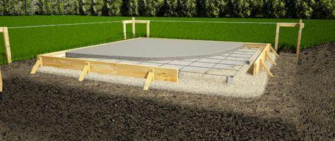 Construire une fondation pour votre remise abri jardin - Dalle en beton pour abri de jardin ...