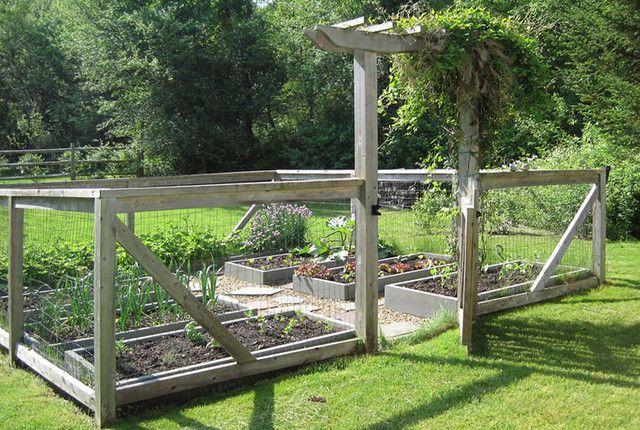 9 best garden design images on pinterest gardening for Enclosed vegetable garden designs