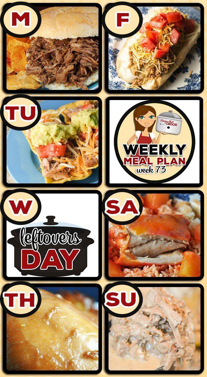 this week's weekly menu features crock pot bbq steak sandwiches