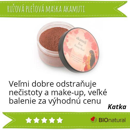 Hodnotenie ružovej pleťovej masky značky #akamuti www.bionatural.sk/p/ruzova-pletova-maska-100-g?utm_campaign=hodnotenie&utm_medium=pin&utm_source=pinterest&utm_content=&utm_term=ruz_plet_maska