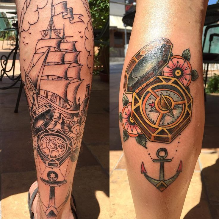 Lovers tattoo (the compass from pirates of the Caribbean pointing towards what they most want ) Ohhh
