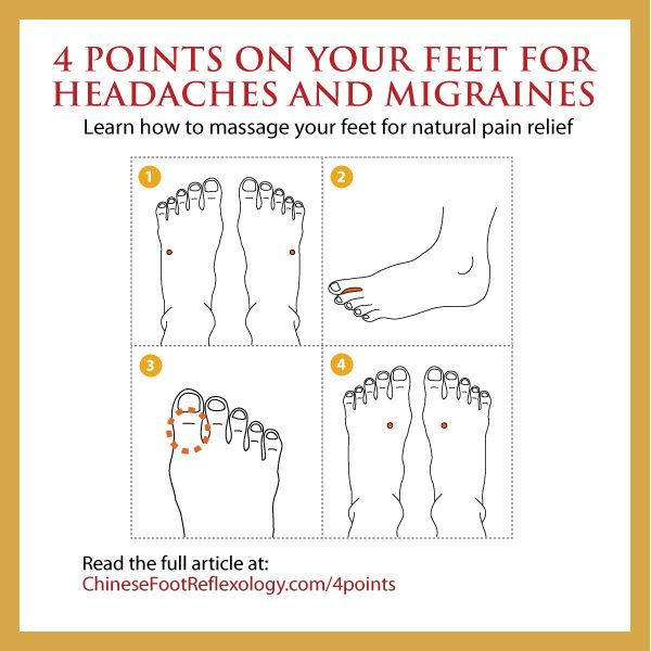 Chinese Reflexology Points and Acupressure for Headaches and Migraines