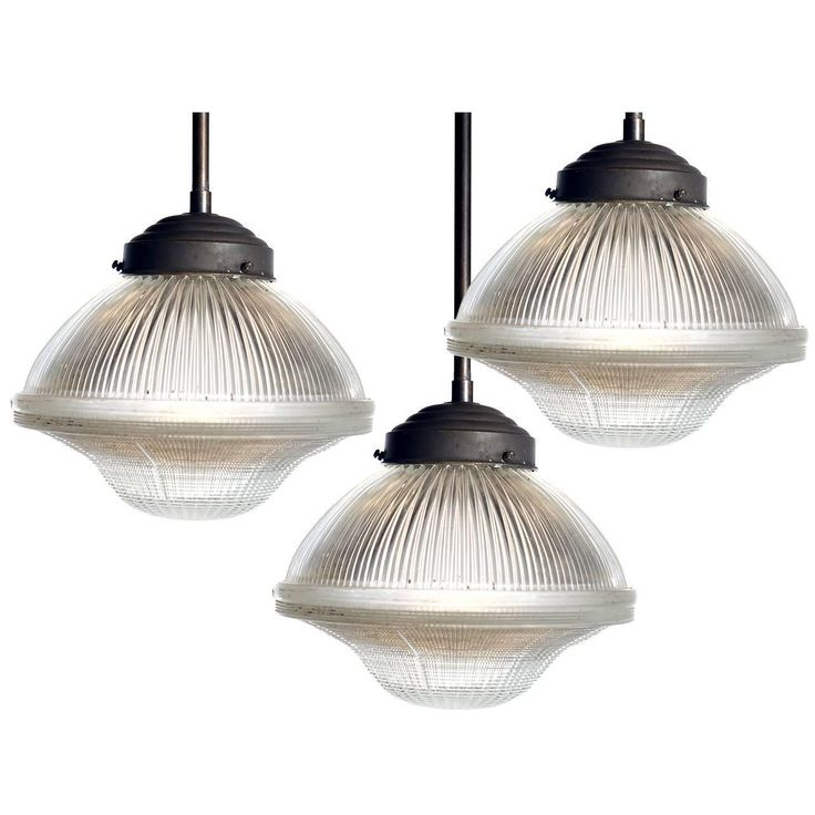Large Dome and Bell Holophane Pendants   From a unique collection of antique and modern chandeliers and pendants at https://www.1stdibs.com/furniture/lighting/chandeliers-pendant-lights/