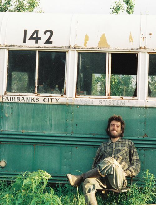 "Christopher McCandless. Just finished watching ""into the wild"", although his naivety ultimately resulted in trajedy. I can't help but feel inspired. R.I.P Christopher."