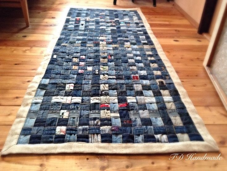 OOAK PIXELS hand made/hand woven upcycled old jeans waste belts rug/carpet/runner,jeans rug,denim decoration,denim deco by denimize on Etsy https://www.etsy.com/listing/239530141/ooak-pixels-hand-madehand-woven-upcycled