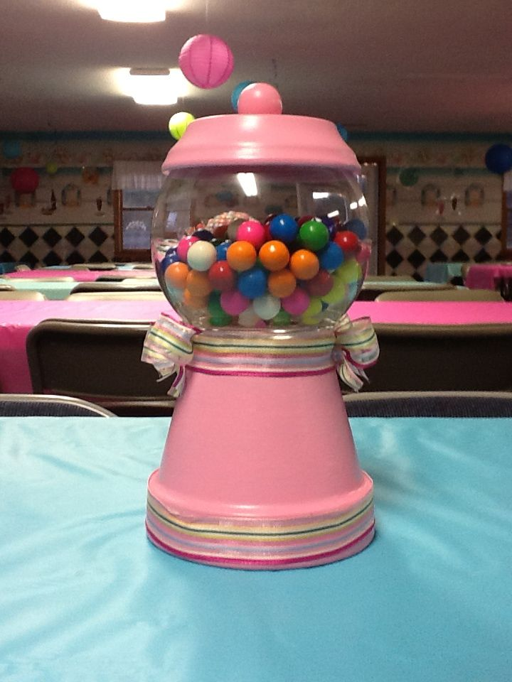 Gumball Machine Centerpiece Cute Decorations Party Ideas