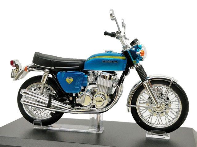 1 12 Aoshima Skynet Finished Diecast Motorcycle Honda Dream Cb750 Four Blue Model Bikes Review Cb750 Honda Bike Reviews