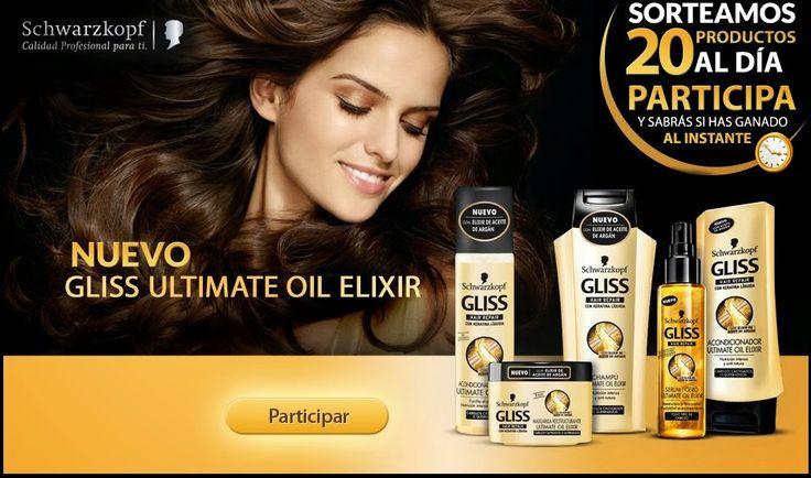 Cada día regalan la cantidad de 20 productos de la gama Gliss Ultimate Oil Elixir totalmente gratis.  Promoción válida para España hasta 16/02/2014.  Más información aquí: http://www.baratuni.es/2014/01/muestras-gratis-gliss-ultimate-oil-elixir.html  #regalosgratis #schwarzkopf #baratuni