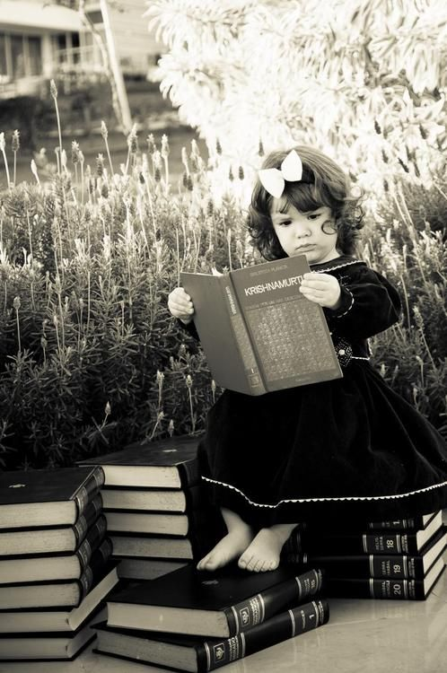 "Reminds me of my sweet angel girl, who loved reading books...""I have always imagined that Paradise will be a kind of library.""  <3"