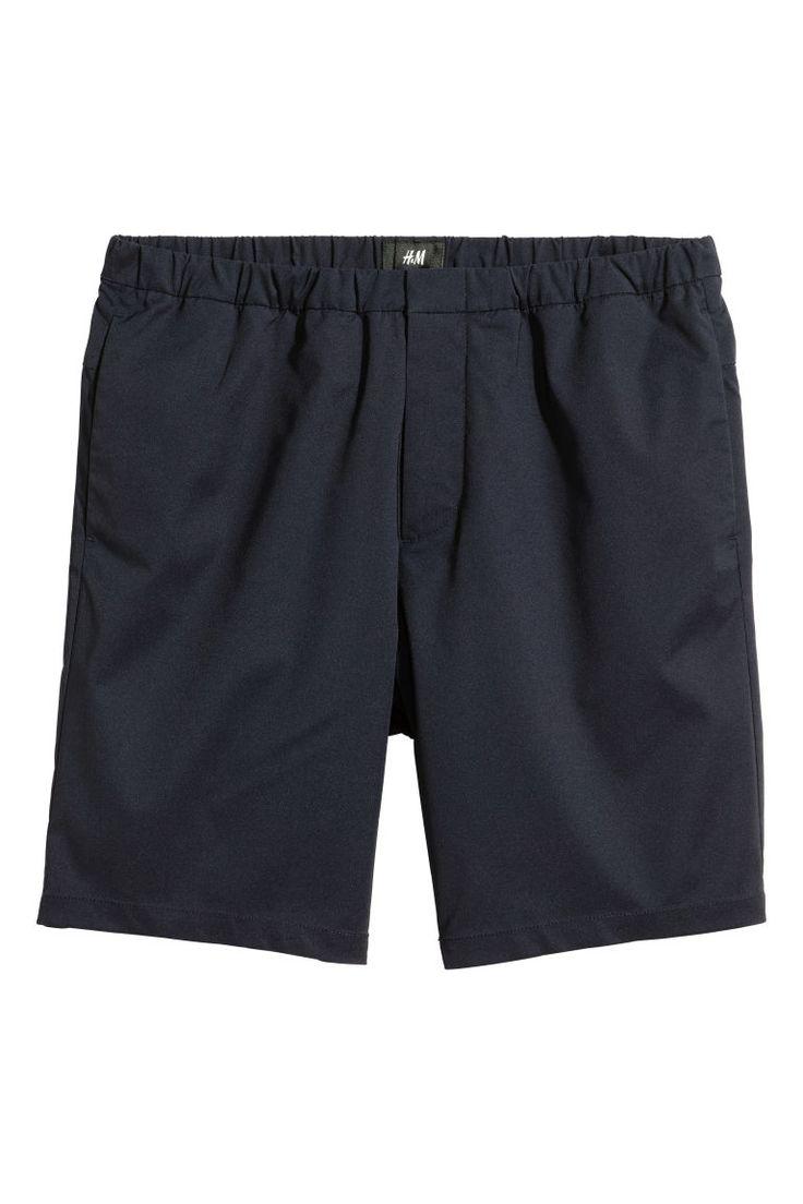 Calções pelo joelho - Azul escuro - HOMEM   H&M PT 2