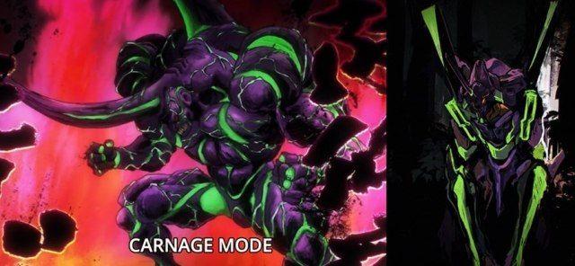 One Punch Man evangelion eva 01 kabuto carnage