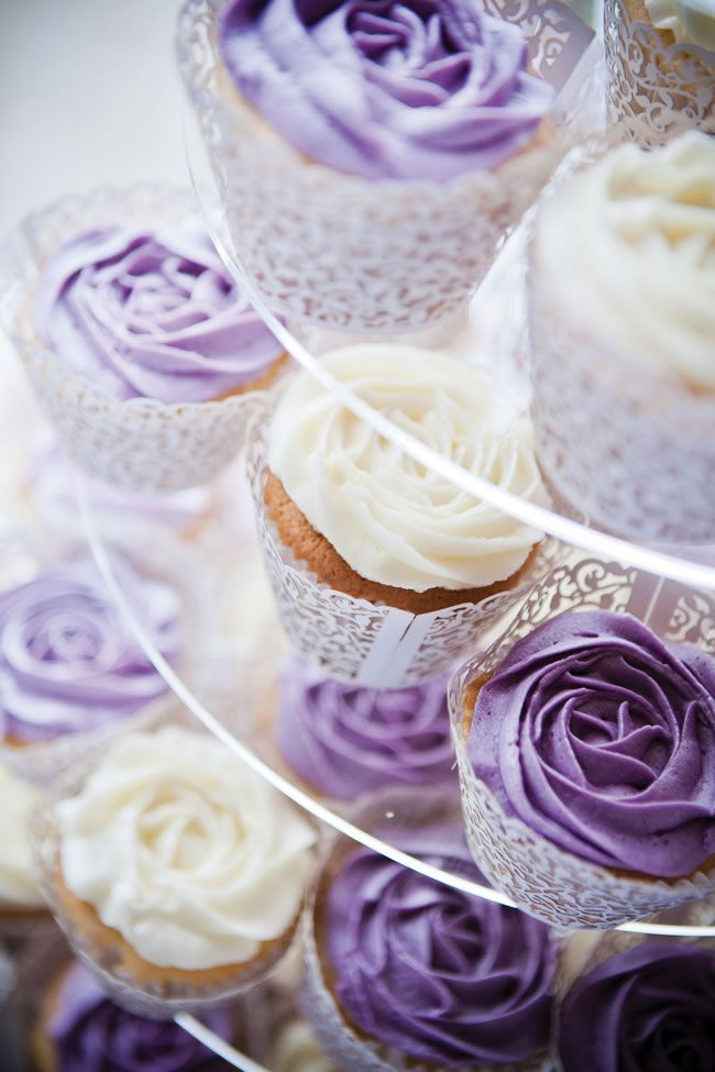 A gorgeous purple country garden wedding from Alex and James. I like the purple AND white icing