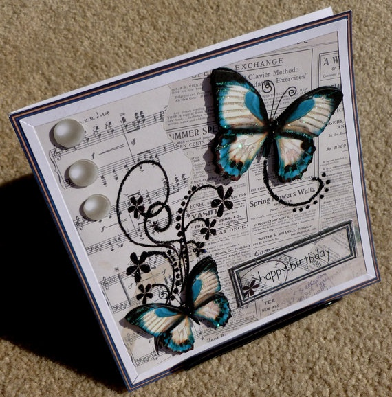 Birthday Handmade Multi Paper Layering 3D Greeting Card