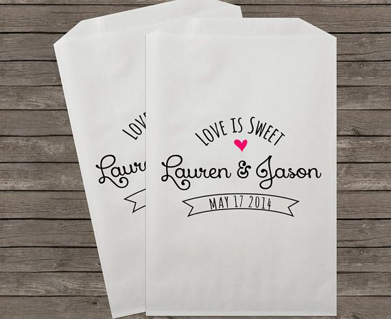 Wedding Favor Bags Candy Buffet Bags Rustic by StampsJubilee      cute for brittle or fill with candy we find in PV?