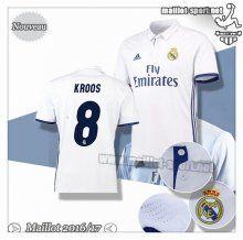 Maillots-Sport: Créer Un Maillot Foot Real Madrid Kroos 8 Domicile 2016 2017